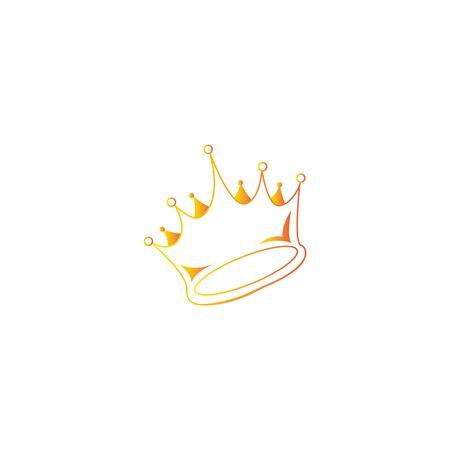Crown icon. Single high quality outline symbol for web design or mobile app. Black outline pictogram on white background. eps 10