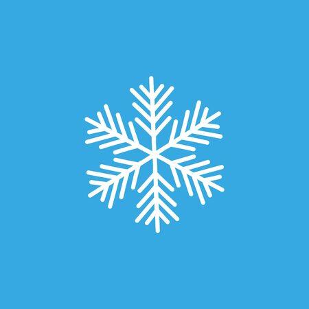 Snowflake sign. Blue Snowflake icon isolated on white background. Snow flake silhouette. Illusztráció