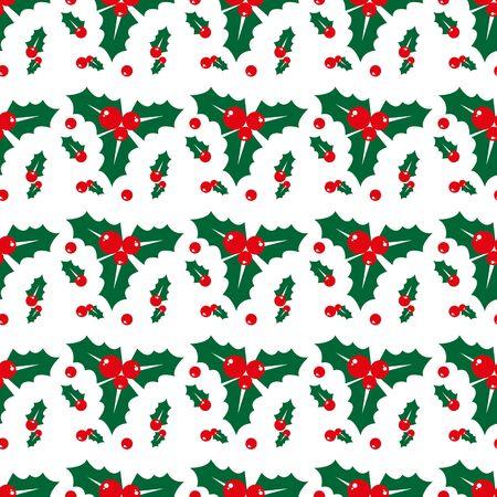 Christmas holly berries seamless pattern illustration. eps10 Illusztráció