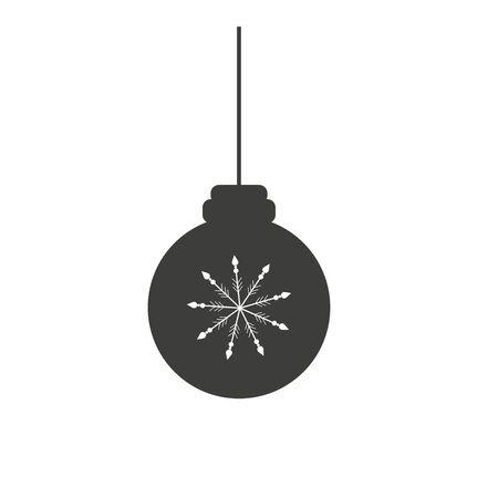 christmas ball icon, flat design best vector icon Illusztráció