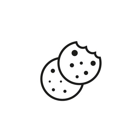 Browser Cookie Icon. Outline Style Icon Cookie icon vector isolated on white background, logo concept sign on transparent background, filled black symbol. Illusztráció
