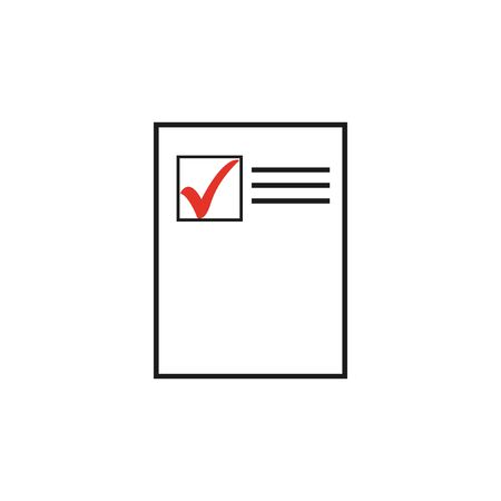 Paper business Icon, Vector Illustration. - Vector  eps 10