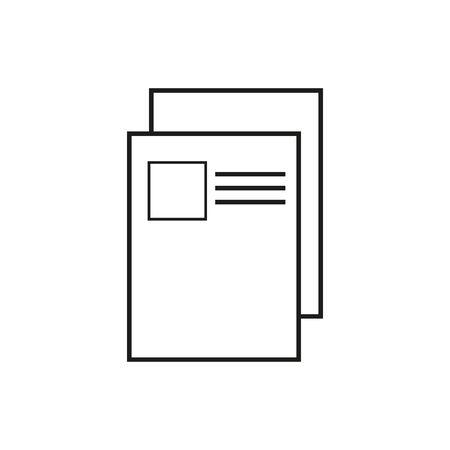 document icon. Page icon. File icon eps 10 Illusztráció