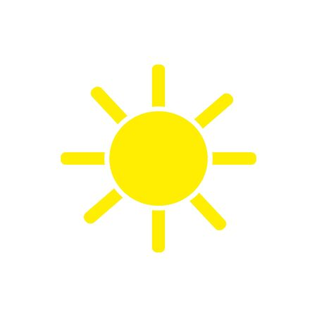 sun flat vector icon isolated on white background