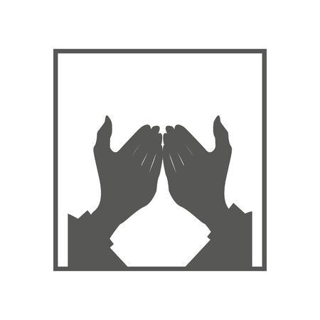 Muslim Man Praying icon. Trendy linear Muslim Man Praying logo concept on transparent background from Religion-2 collection.hand