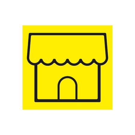 Simple Store or shop icon.Merchant store, vector icon illustration in line outline style. eps.10