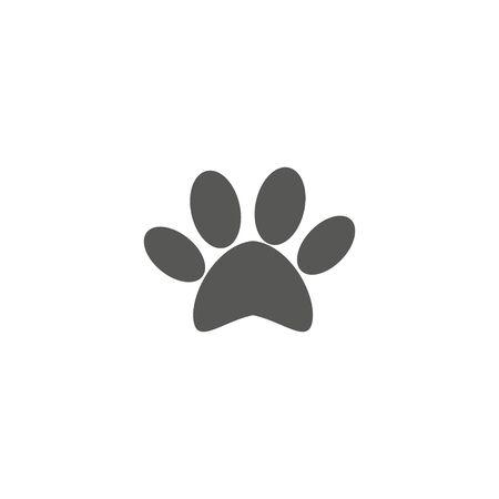 Dog paw illustration on white backgroound. icon .eps 10 Stock fotó