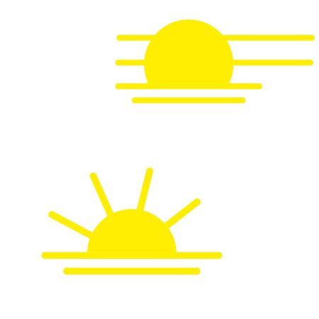Sunny weather sign icon. Yellow sun illustration