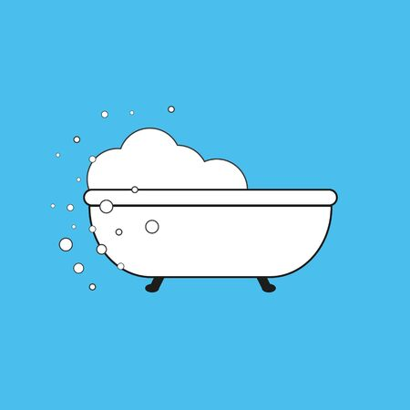 Retro bath icon isolated on white background. Vector art.eps 10 Illusztráció