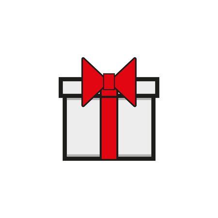 Outline christmas gift icon illustration vector symbol eps 10