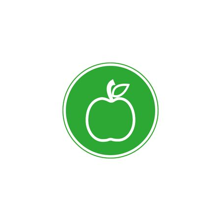 apple icon in trendy flat style isolated on background. apple icon page symbol for your web site design apple icon logo, app, Vector illustration,