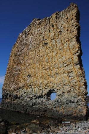Sail rock on the coast of the Black Sea. Russia Stock Photo