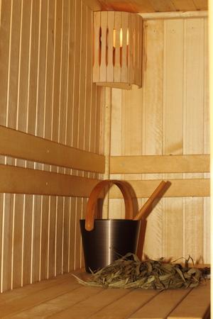 Sauna room.