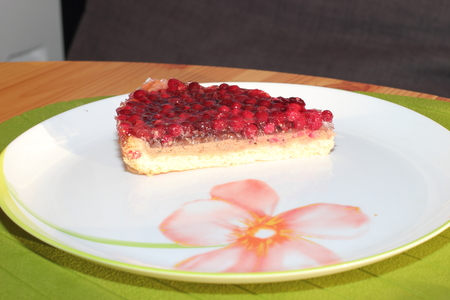 Piece of cake with cranberries Stock Photo