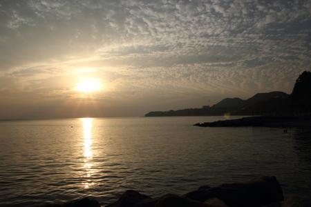 stunning sunset in Russia on the Black Sea Stock Photo