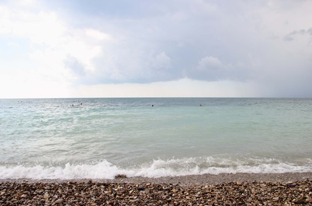sullenly: sea and the sky before the storm Stock Photo