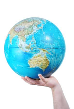el mundo en tus manos: Mundo en sus manos Foto de archivo