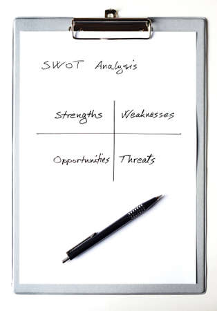 swot: SWOT analysis analizes the strengths, weaknesses, opprtunities and threats Stock Photo