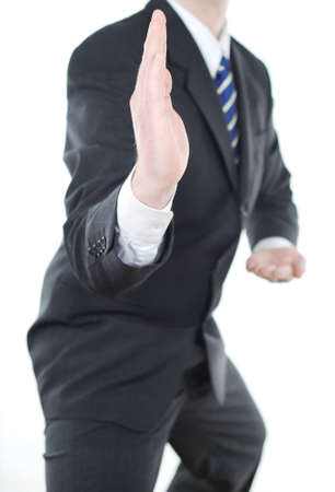 Businessman ready to attack photo