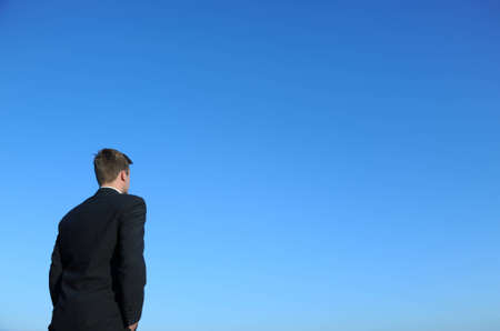 Young successful businessman looking confidently in the future Stock Photo - 14941575