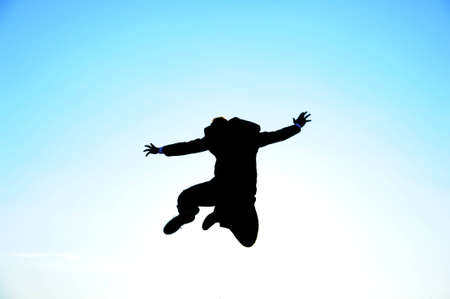Jumping businessman photo