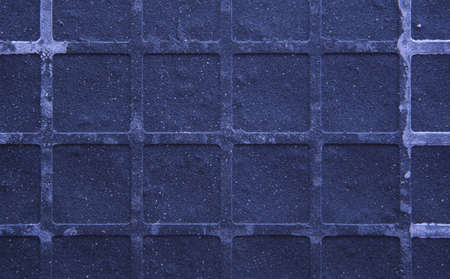 Seamless tileable grunge blue purple square marble stone background. photo