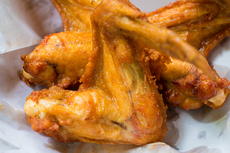 Close up Fried Chicken in a basket