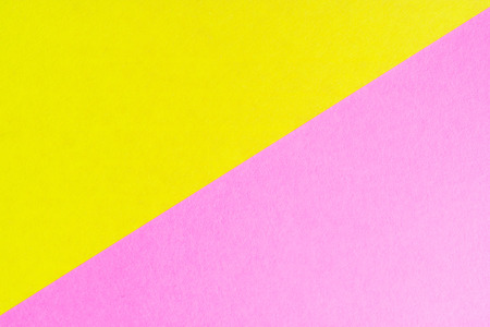 the diagonal of the two colored sheets of paper of different colors, paper crafts Stock Photo