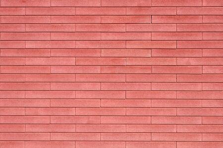 brick wall made of decorative bricks smooth lines large background Banco de Imagens
