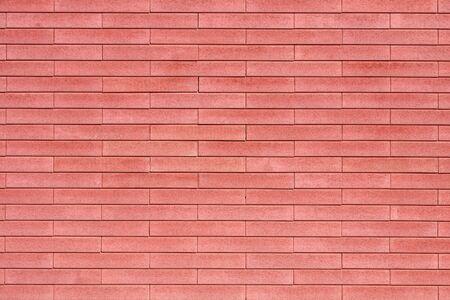 red brick background decorative wall building facade smooth lines of brick masonry