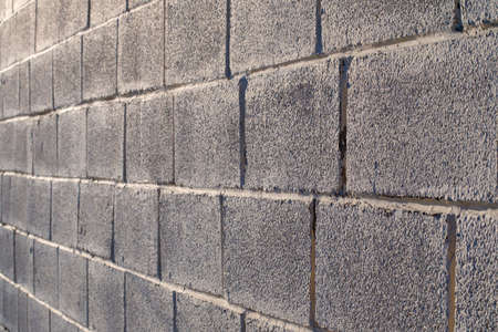 background of gray brick in perspective. brick wall 版權商用圖片