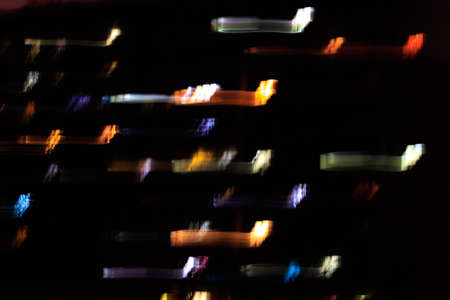 Abstract blurred background of luminous objects in motion. abstract photo 版權商用圖片