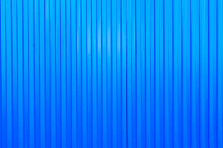 blue metal fence surface, corrugated sheet. vertical rows on a metal sheet Stock fotó