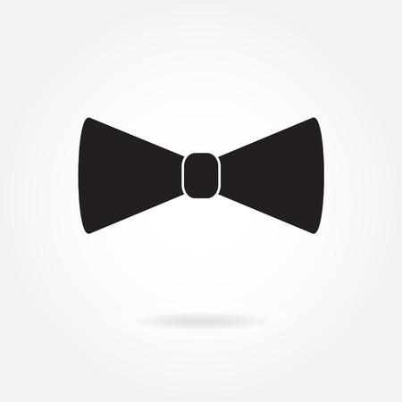 蝶ネクタイ アイコンまたは白い背景で隔離の符号。ベクトルの図。