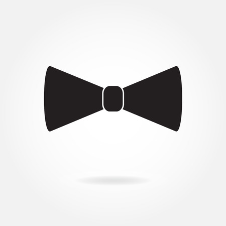 Bow tie icon or sign isolated on white background. Vector illustration.