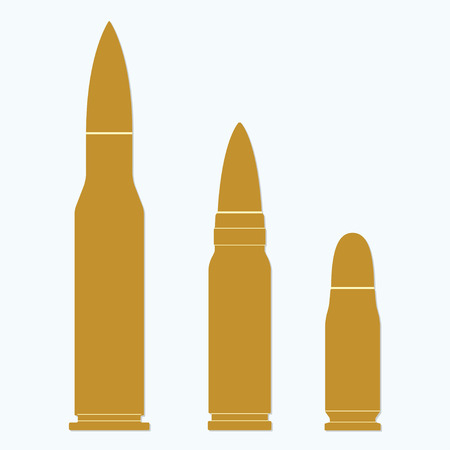 Bullet icons set isolated on white background. Vector illustration of different bullets in flat design.