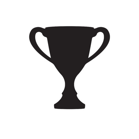 Trophy cup icon or sign on white background. Vector illustration. Illustration