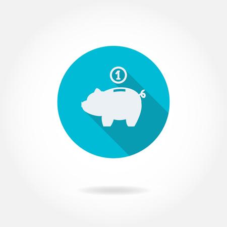 Piggy bank. Saving money icon. Business and finance vector illustration.