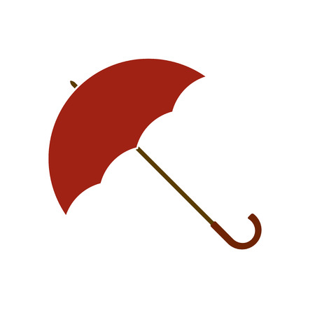 brolly: Opened umbrella icon or sign isolated on white background. Vector illustration.