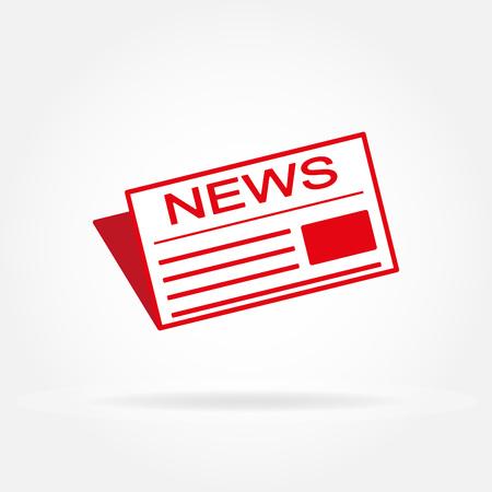 News and newspaper icon. Vector illustration.  イラスト・ベクター素材