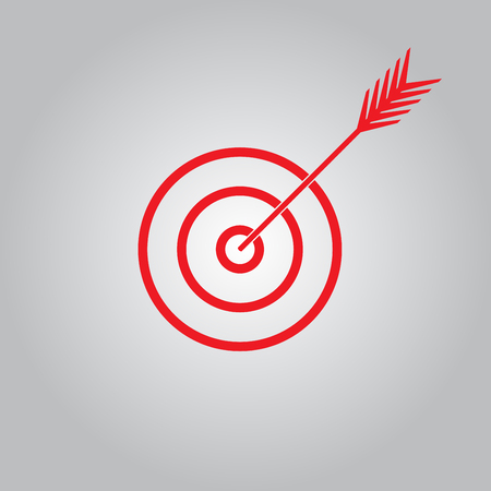Target with arrow. Vector icon.