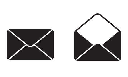 Envelope Mail Icon or sign. Blank open envelope. Vector illustration.