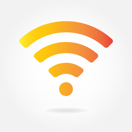 Wifi and wireless icon or sign for remote internet access. Podcast vector symbol. Illustration