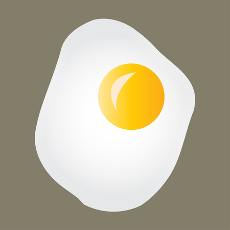 Fried eggs icon or sign. Colorful vector illustration.