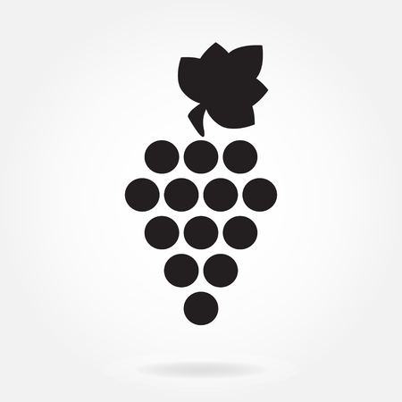 Grape icon or sign isolated on white background.