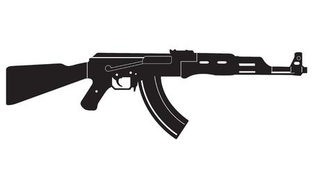 icône de pistolet à feu ou signe isolé sur fond blanc. illustration inclinée ou une silhouette blanche isolé. vecteur Vecteurs