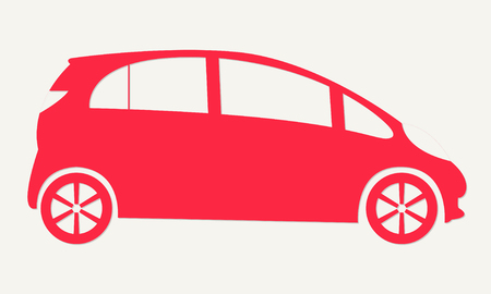 Auto Business Icon Car With Round Arrows Car Trade In Symbol