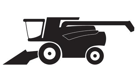 Kombajn ikona lub znak na białym tle. Ilustracji wektorowych.
