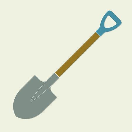Shovel or garden spade icon. Colorful vector illustration. Flat design. Illustration