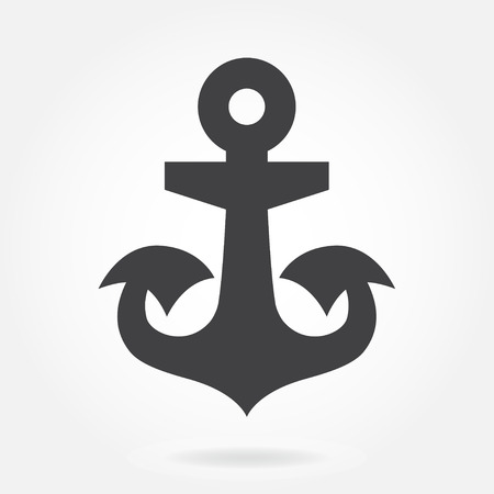 Anchor icon or sign. Vector illustration.